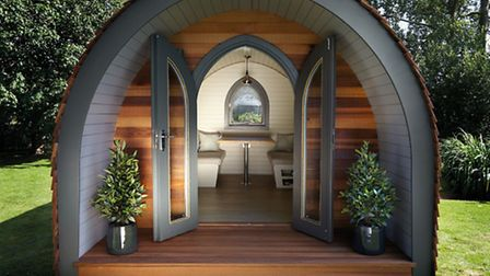 A Garden pod, from £16,750, available from Garden Hideouts. PA Photo/Handout