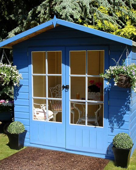 A Lumley shiplap timber summerhouse, from £342, available from B&Q. PA Photo/Handout