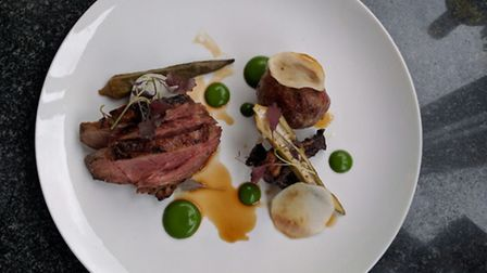 Lamb main course, at Smoke and Salt, which is in residence at The Chapel Bar in Islington