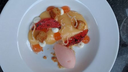 Delectable desert at Smoke and Salt, which is in residence at The Chapel Bar in Islington