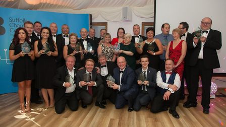 Last year's winners at the Suffolk Chamber of Commerce in Lowestoft and Waveney Business Awards. Pic