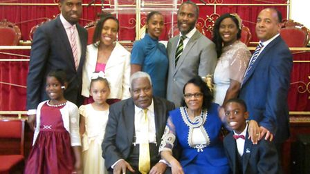 Curtis and Marguerita Bruce with their family