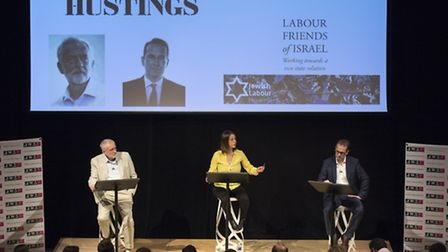 Jeremy Corbyn and Owen Smith final hustings of the Labour Leadership campaign, held at the JW3 centr