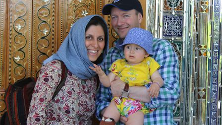 The Ratcliffe family on holiday in Shiraz