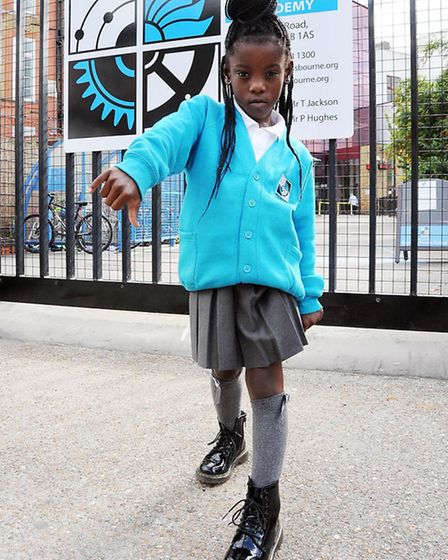 Latasia Williams in her Dr Martens boots