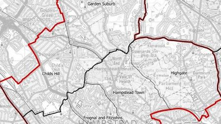 New constituency of Hampstead and Golders Green