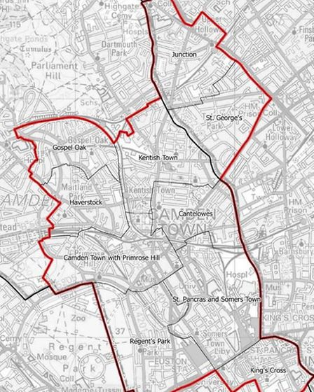New boundaries of Holborn and St Pancras