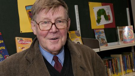 Alan Bennett at Primrose Hill Community library. picture: Nigel Sutton