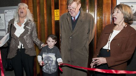 Alan Bennett at the official opening of Primrose Hill Community library with Dame Joan Bakewell and