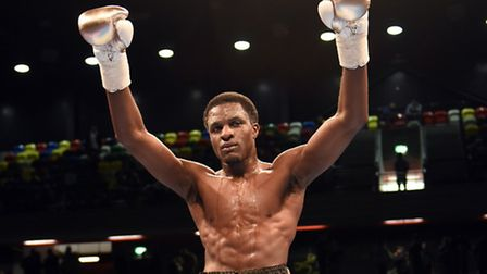 Ohara Davies after his victory against Prince Ofotsu at the Copper Box Arena earlier this year. Pic: