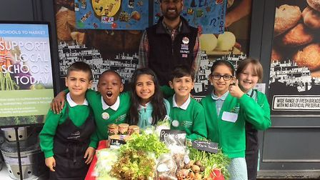 Children from Hoxton Garden Primary School took part in a Whole Kids Foundation project (Picture: Wh