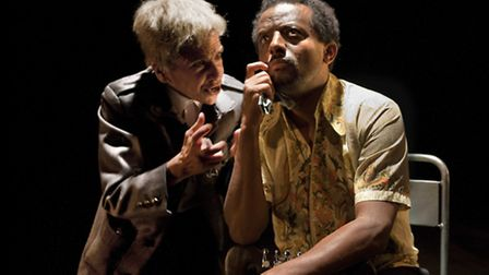 Kathryn Hunter and Temesgen Zeleke in The Emperor at the Young Vic. Picture: Simon Annand