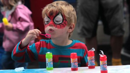 One child became Spiderman for the day. (Picture: Rhi Ellis).
