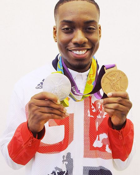 Lutalo with his medals