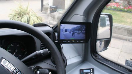Cameras have been installed on the minibuses. (Picture: Hackney Council).
