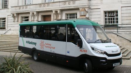 The technology has been installed on minibuses for special needs children. (Picture: Hackney Council