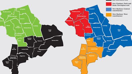 Hackney constituencies now and if the plans go through