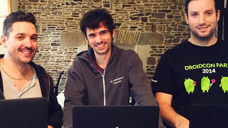 From left to right: Founders Guillaume Sempé, Jean Meyer and Guilhem Duché