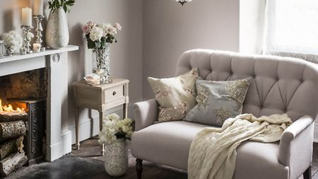 Set the scene by the fireside with items from House of Fraser's Shabby Chic range, which includes a