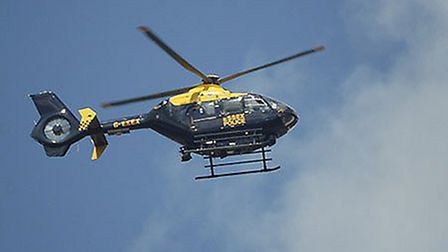 A police helicopter was at the scene in Camden Town