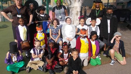 Youngsters and teachers at Nightingale Primary School dress up as Roald Dahl book characters