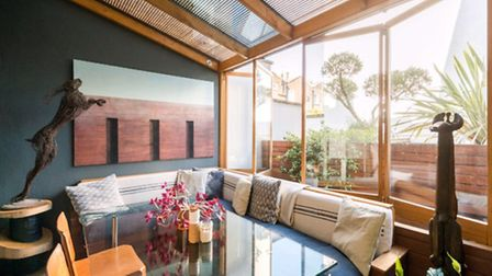 Bi-folding windows make this a conservatory with a difference