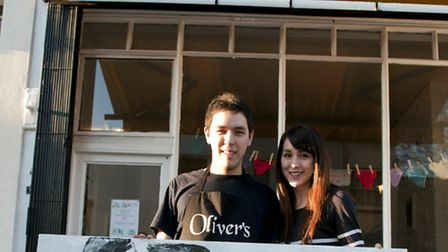 Oliver's Art Show at Oliver's Cafe in Belsize Village.