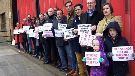 MP Meg Hillier (back row, right) called on the government to reinvest some of its own profits from t
