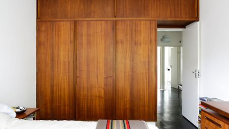 This 1950s property boasts the original mahogany fitted furniture