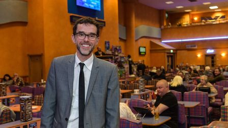 Emmerdale's Marlon Dingle - actor Mark Charnock - at Beacon Bingo Lowestoft. Pictures: Courtesy of B