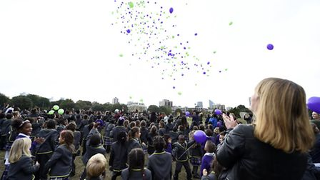 Balloons were set off at the launch of the school's new name