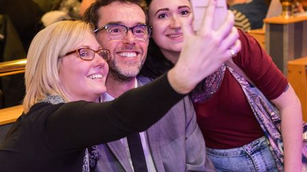 Emmerdale's Marlon Dingle - actor Mark Charnock - spends time with fans in Beacon Bingo Lowestoft. T