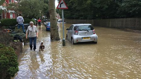 Ten people have been evacuated from their homes. Photo: Jeff Overs