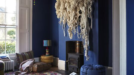 The house in De Beauvoir decked out entirely in wool. (PHOTO: Peter Dixon)