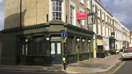 The former Prince Albert is now protected by shutters