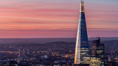Owning the Shard would make for some great sunset views over the city