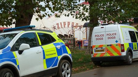 Officers were called to the demonstration outside Zippos Circus on Friday. Picture: Ron Vester