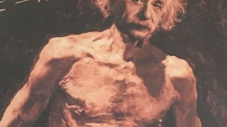 This painting of a naked Albert Einstein was found in rubbish in Camden