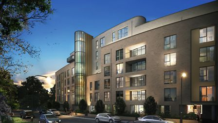 The high specification apartments are being built on Lawn Lane in Hampstead