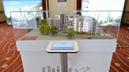 An interactive 3D model allowed viewers to view the locations of the 1, 2 and 3 bedroom apartments
