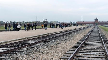 The railway line leading into the centre of Auschwitz II (Birkenau) Picture: grahamsimages.com