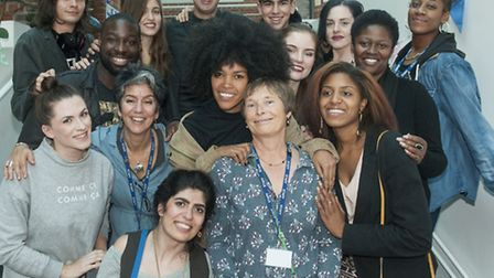 Farewell: Celia Greenwood at her leaving party from Wac Arts