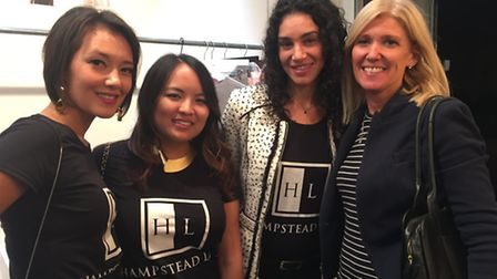 Founders Diana Von Rettig, Jana Blount and Robin Zaragoza with Ham&High editor Emily Banks(L-R) at
