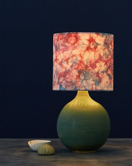 Romor Designs lampshade with Isabella Lepri base