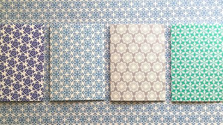Elvira van Vredenburgh snowflake card collection and ice blue wrap