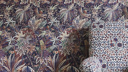 Shand wallpaper in library, £115 per roll, available from Liberty. PA Photo/Handout