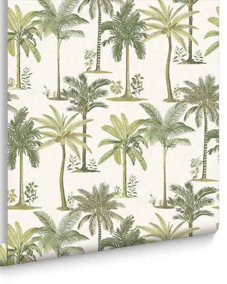 Fresco Palm, £10 per roll, available from Graham and Brown. PA Photo/Handout