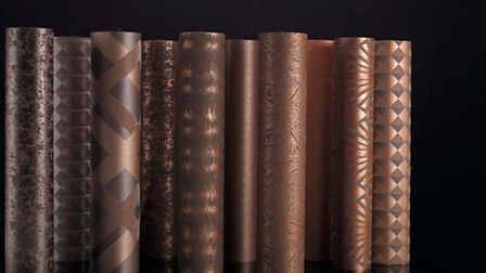 Copper collection from the Grandezza Charleston collection, from £54.90 a roll, available from JAB A