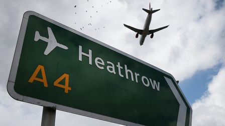 An aeroplane arrives at Heathrow (Photo by Peter Macdiarmid/Getty Images)