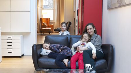 Jelena Cousins with daughters Sophia , Isabella, and Imogen, Photo credit: Luke White